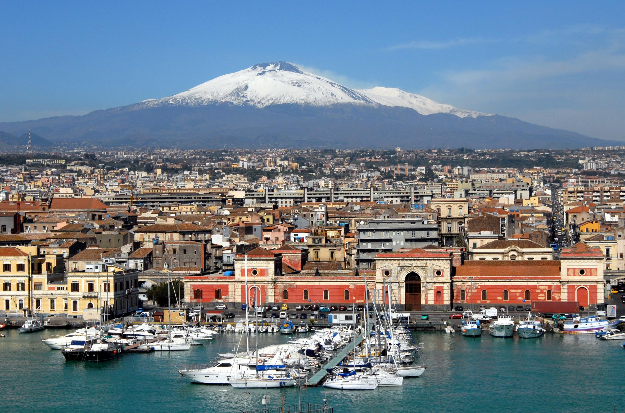 Catania's harbour view