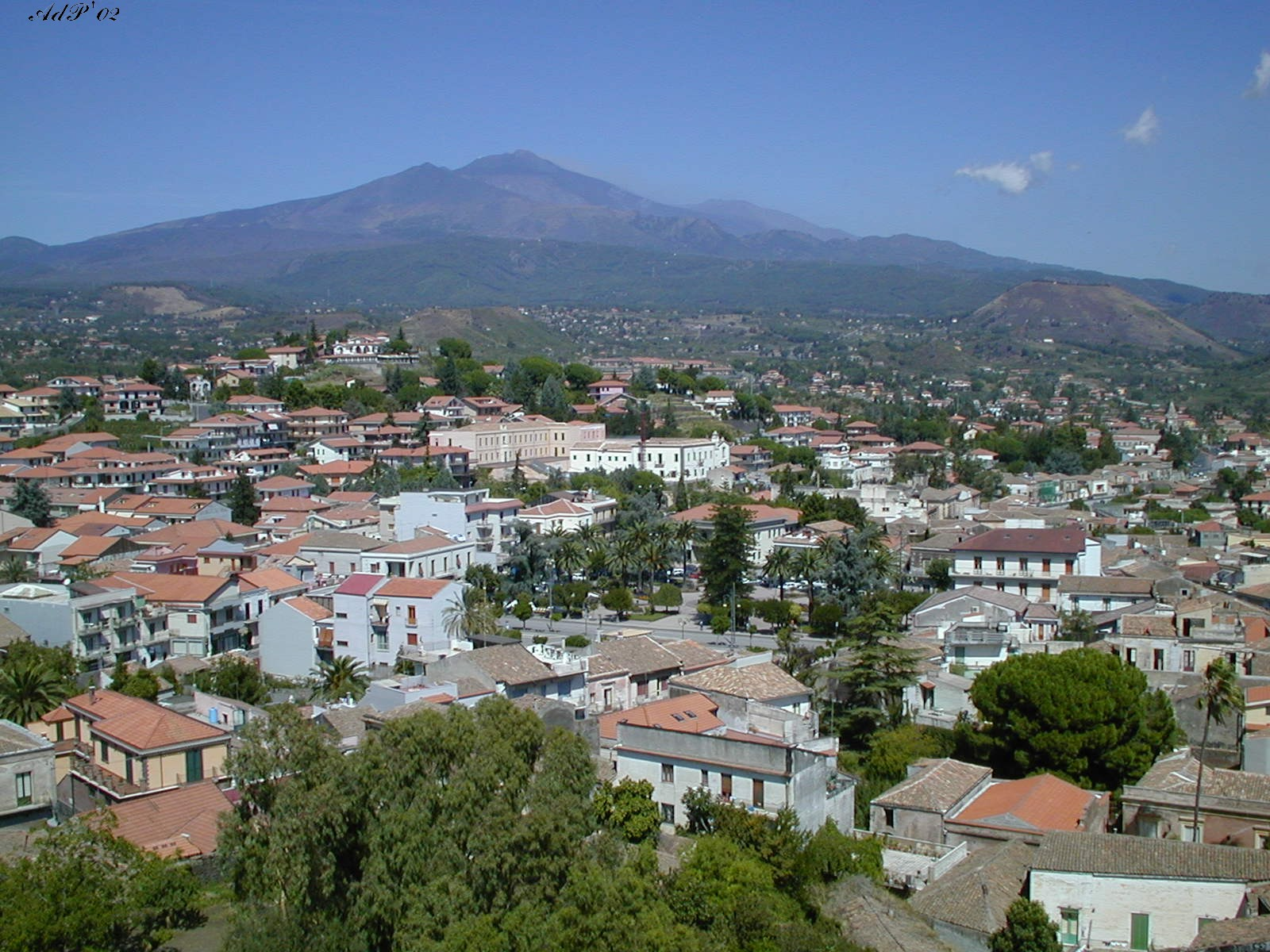 Landscape view with Etna
