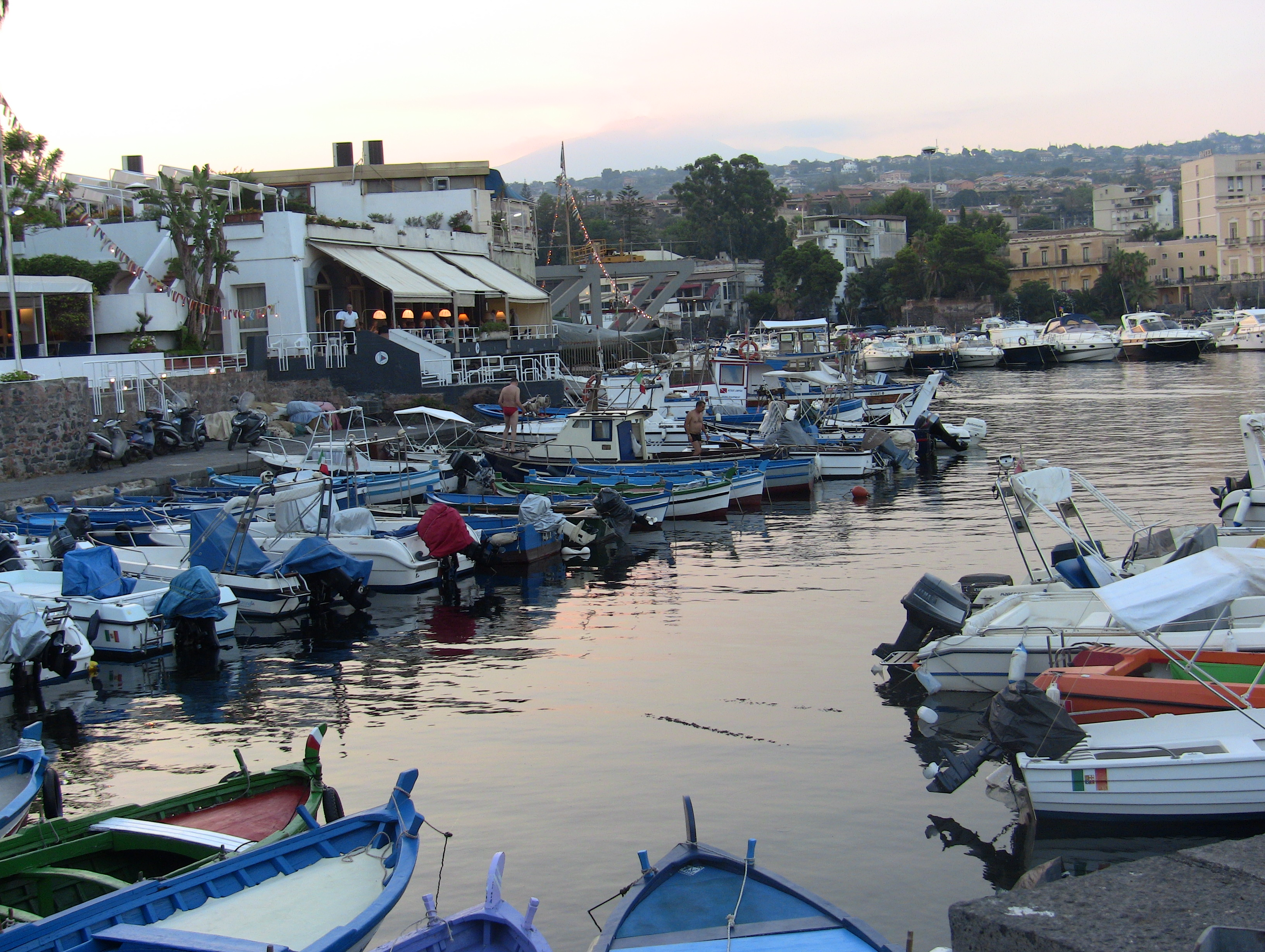 Little harbour near Catania