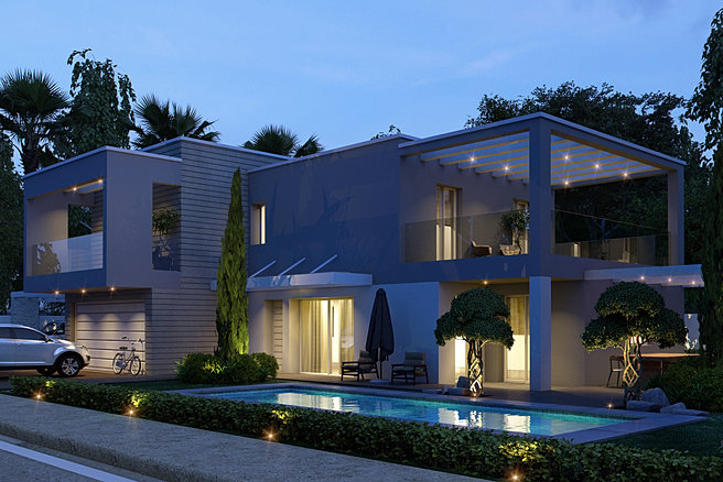 113 progetto casa moderna nuova costruzione casa singola
