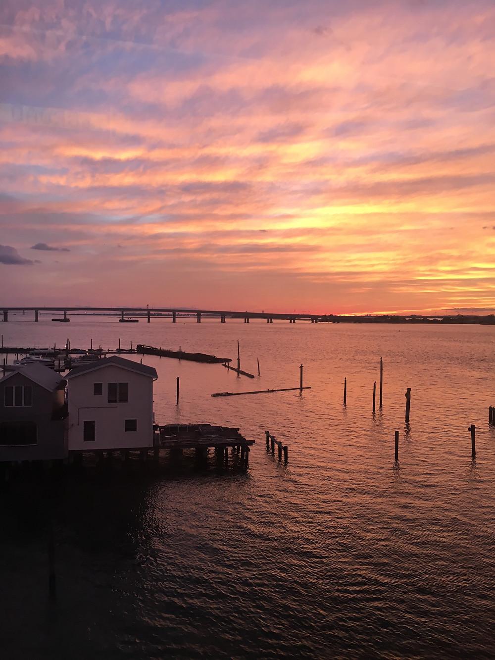 Rockaway sunset, photo by Kirk Schoenherr