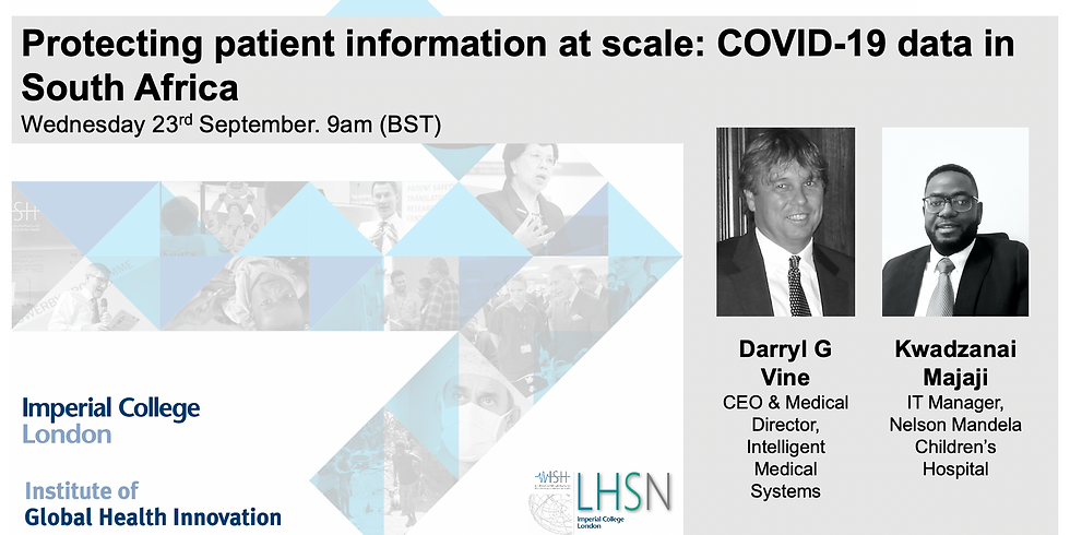 Protecting patient information at scale: COVID-19 data in South Africa
