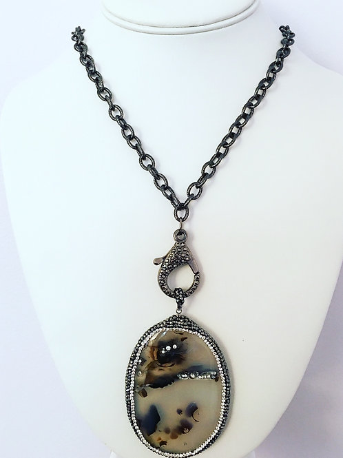 Montana Agate Pendant Necklace