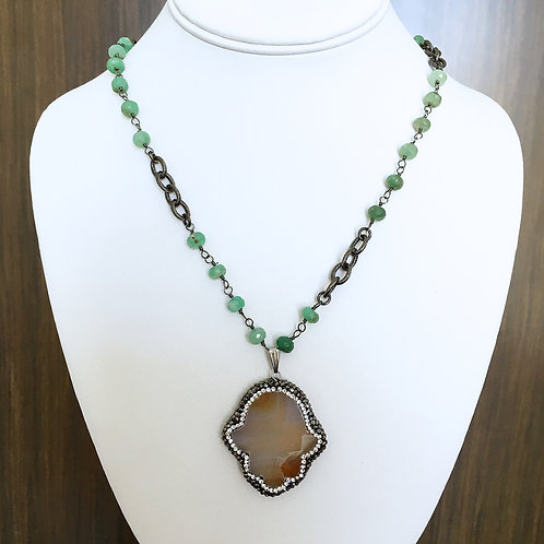 Hamsa Beaded Necklace