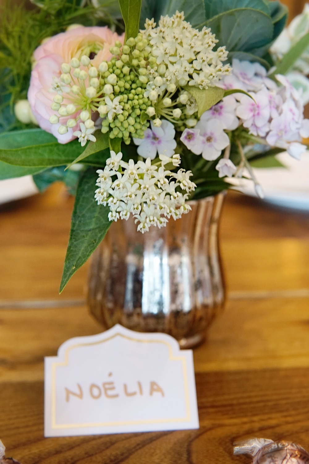 70th birthday dinner table flowers