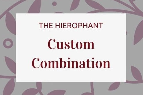 Customised Combinations