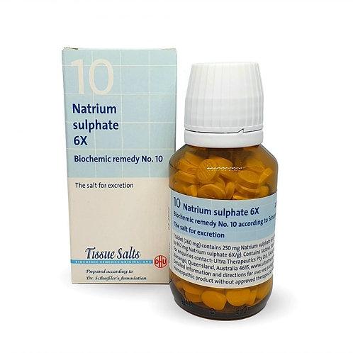 Number 10 - Natrium Sulphate 6X