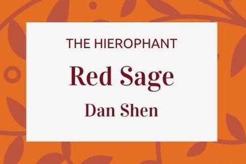 Red Sage  Dan Shen - Salvia miltiorrhiza