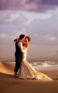 yes I will marry you, beach wedding