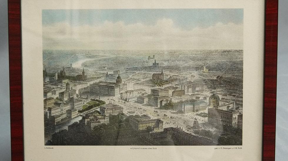 """Sehr schöne, colorierte Lithographie: """"Berlin""""..."""