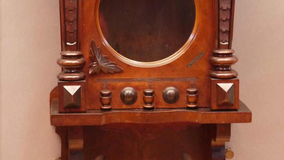 Schöner, alter Nußbaum-Uhrenkasten, Historismus um 1880/1900
