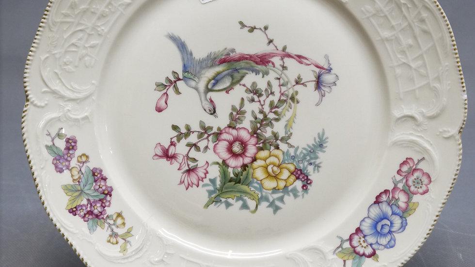 Sehr schöne, alte Rosenthal-Gebäckplatte, floral dekoriert...