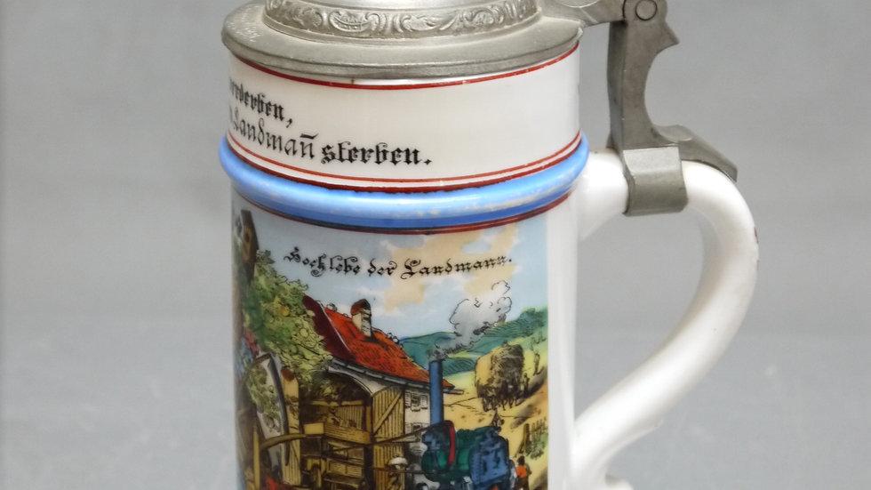 Sehr schöner, alter Bierkrug mit einer Lithophanie...