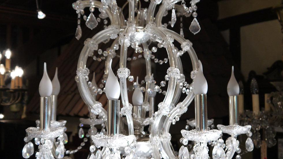 Sehr imposanter & stilvoller Kristall-Lüster 9flammig...