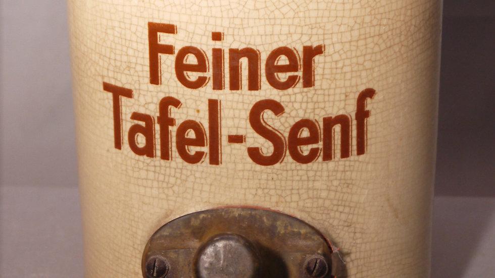 Großer, alter Senftopf, Senfspender: Feiner Tafel-Senf...