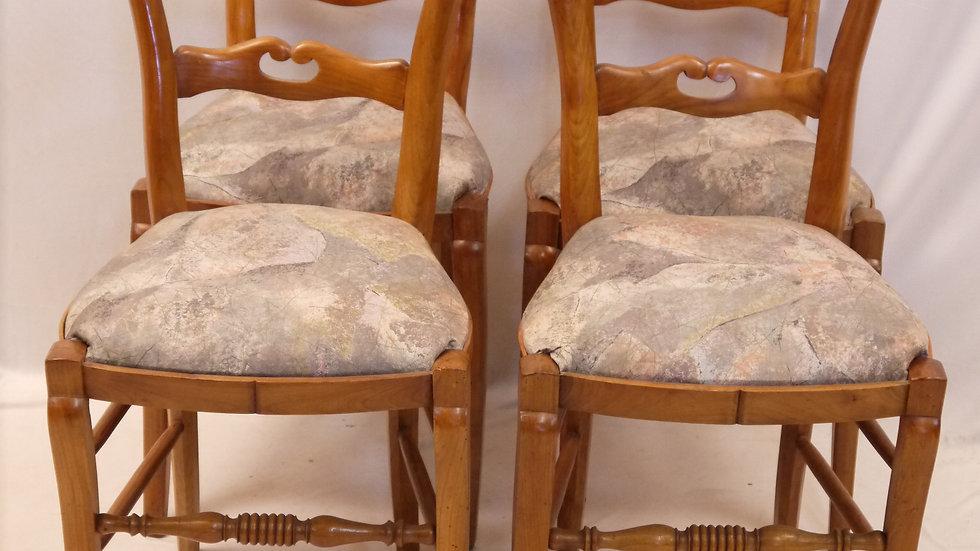 """4 Stück sehr schöne """"Biedermeier-Stühle"""" aus Kirschbaum"""