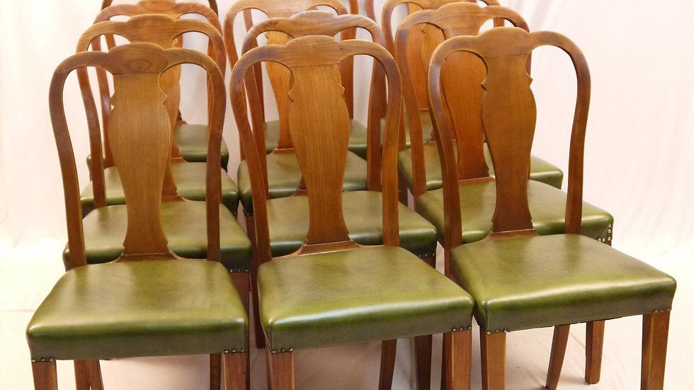 Seltener 12er Satz Stühle, Stil Barock um 1920/30