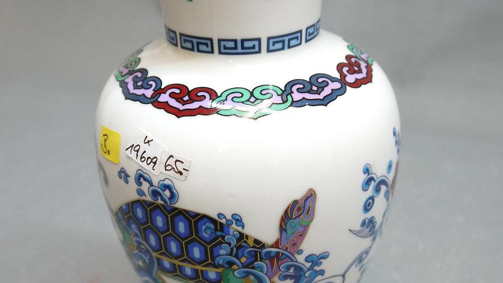 Stilvolle Porzellan-Vase, mit 24karätigem Gold, Franklin Mint -B-