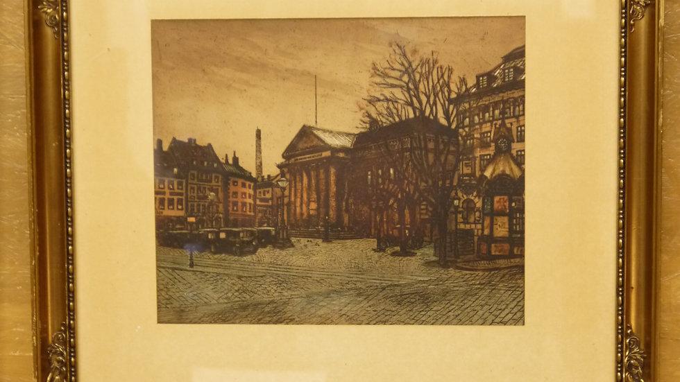 Schöner, alter Stich, stilvoll gerahmt, um 1900...