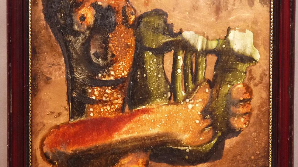 Abstrakte Malerei: Der Sänger von Odysseus, signiert...