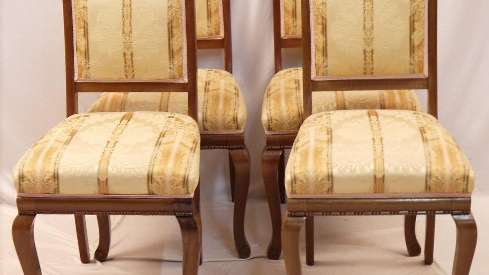 Schöner alter 4er Satz Mahagoni-Stühle um 1900...