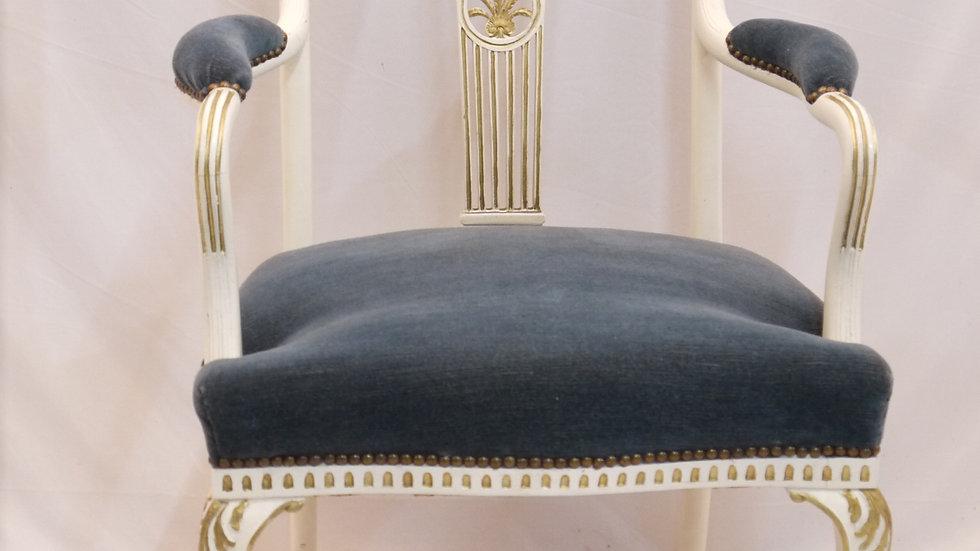Sehr schöner Vintage-Armlehnsessel, um 1920, Stil Barock... -A-