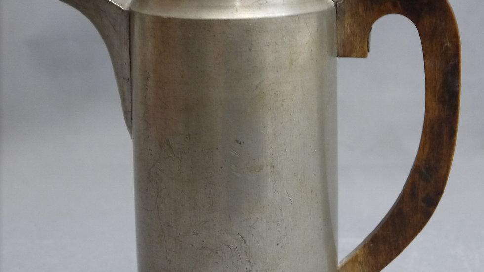 Schöne, alte Zinn-Kanne mit Holzhenkel, datiert: 1845!!!...