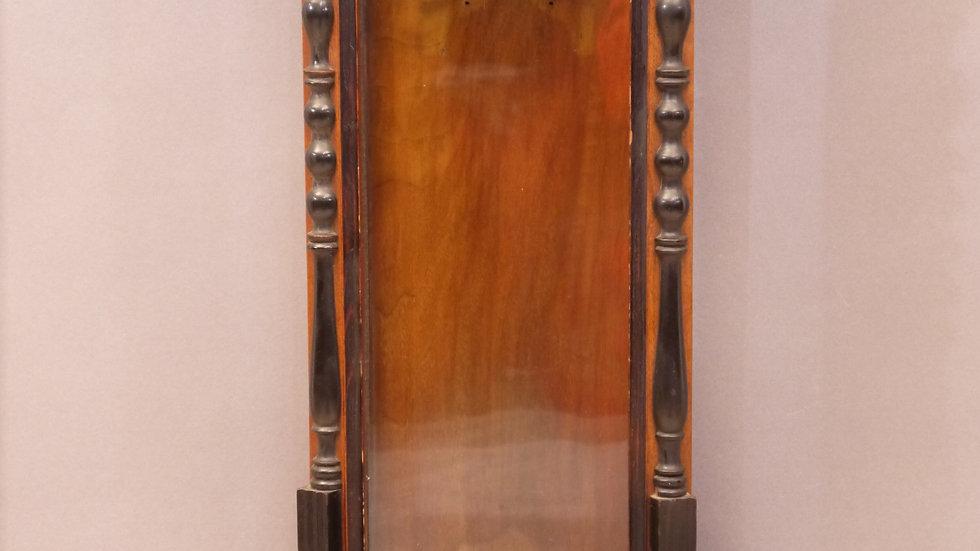 Stilvoller, alter Nußbaum-Uhrenkasten, Historismus um 1880...