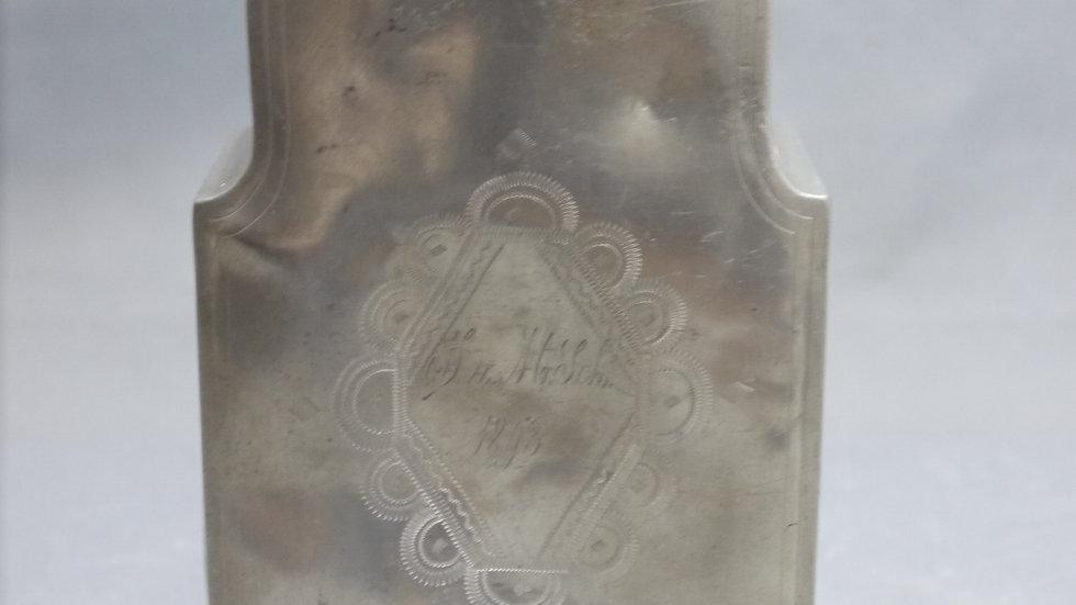 Schöne alteTrink-Flasche aus Zinn, dat.1893!!!...