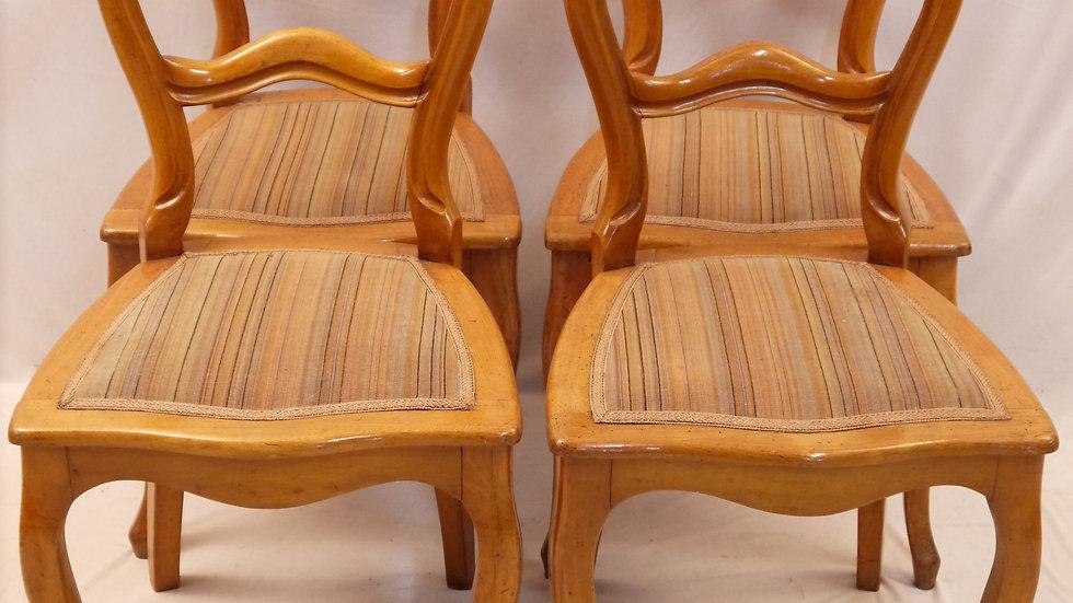 """4er Satz schöner """"Spät-Biedermeier-Stühle"""", klassische Form"""