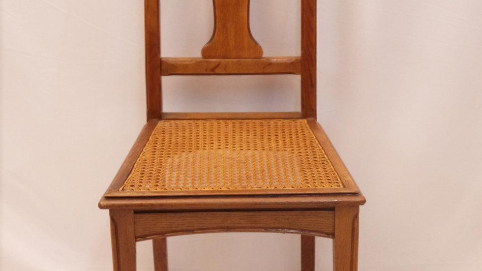 Sehr schöner Jugendstil-Stuhl, mit Korbgeflecht, um 1900... -A-