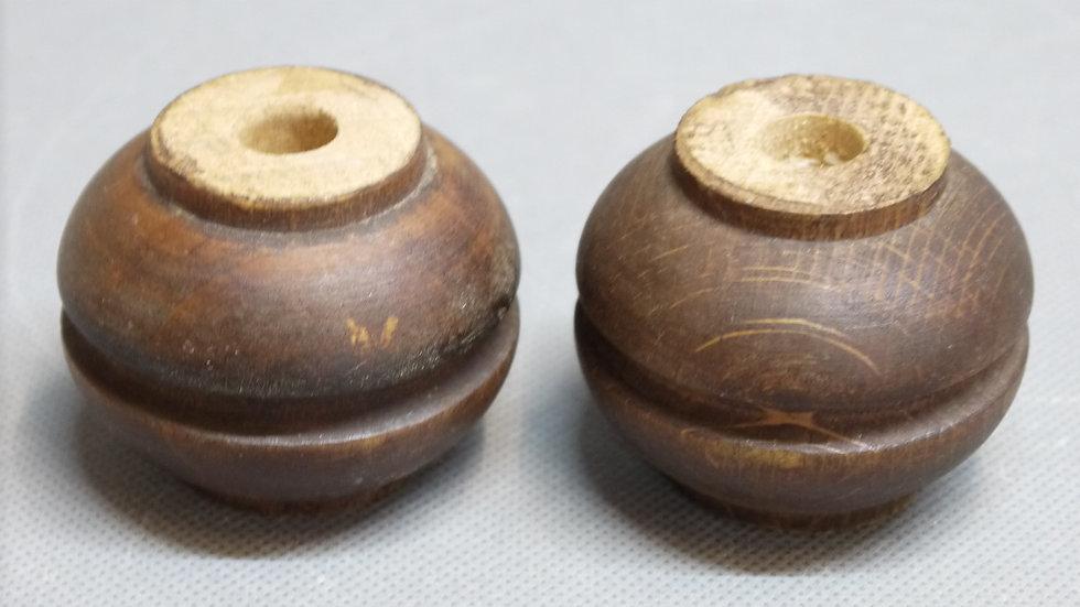 Paar alte, originale Historismus-Möbelfüße, Hartholz -A-