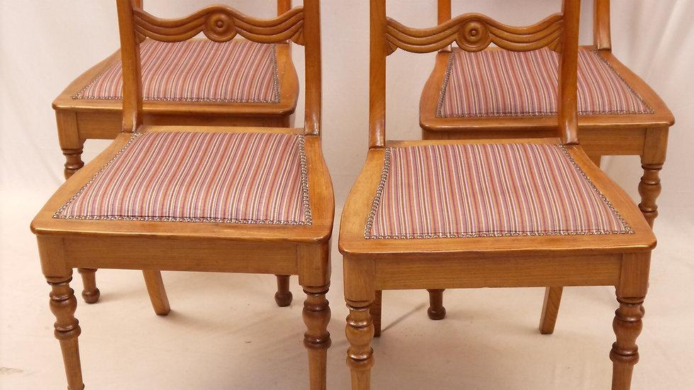 Stilvoller 4er Satz Biedermeier Stühle, Esche, 1830/1840