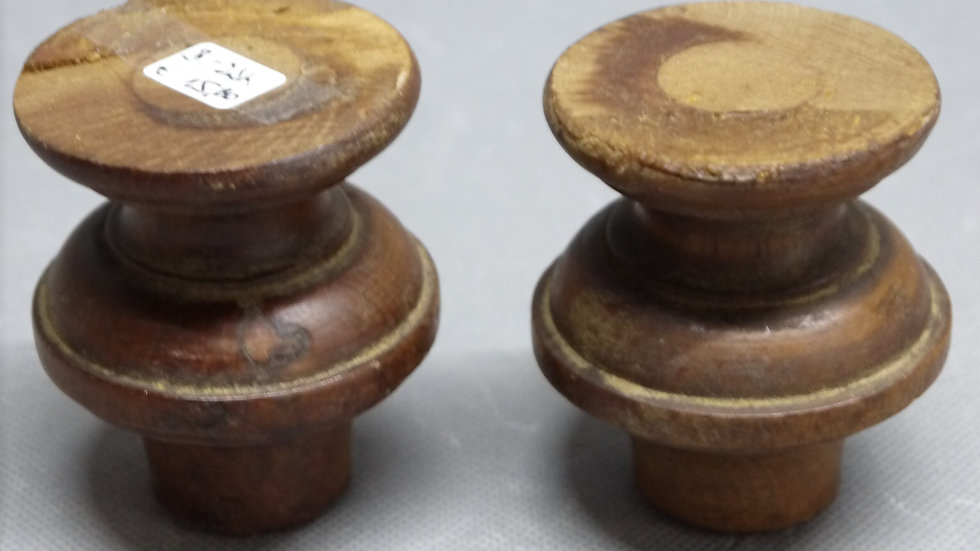 Paar alte, originale Historismus-Möbelfüße, Nußbaum massiv, um 1880 -B-