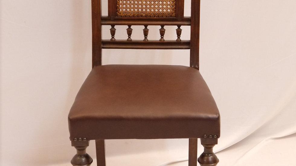 Sehr schöner Historismus-Stuhl, Leder bezogen, um 1880...