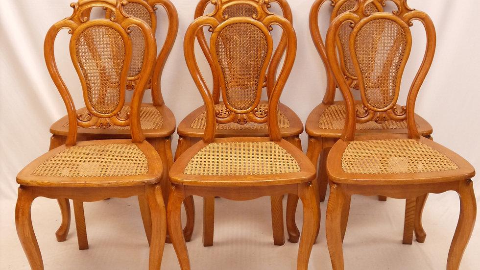 Sehr schöner 6er Satz Eschen-Stühle, Louis Philippe