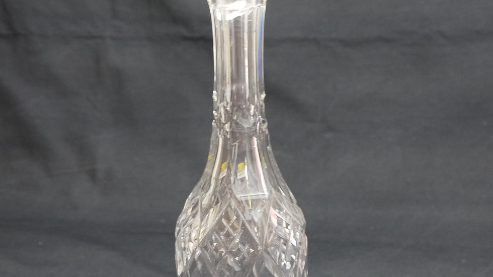 Sehr stilvolle alte Kristallglas-Karaffe: 40cm Höhe...