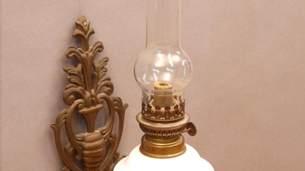 Sehr schöne, ältere Petroleum-Wandlampe...