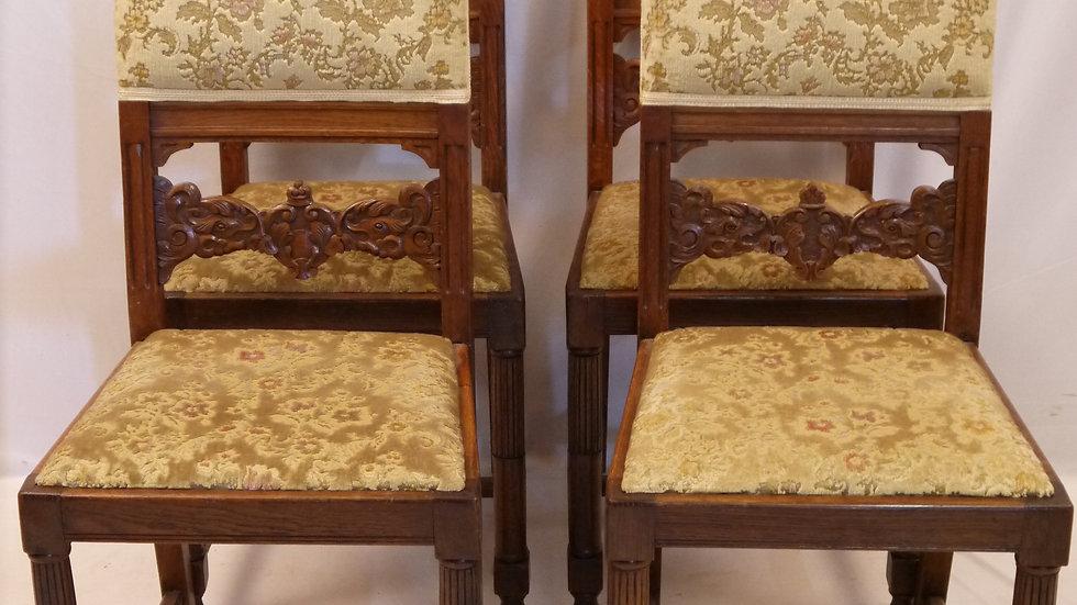 Sehr schöner 4er Satz Eichen-Stühle der 20er Jahre