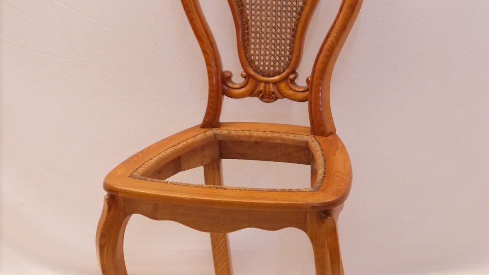 Stilvoller, alter Eschen-Stuhl, Louis Philippe ...