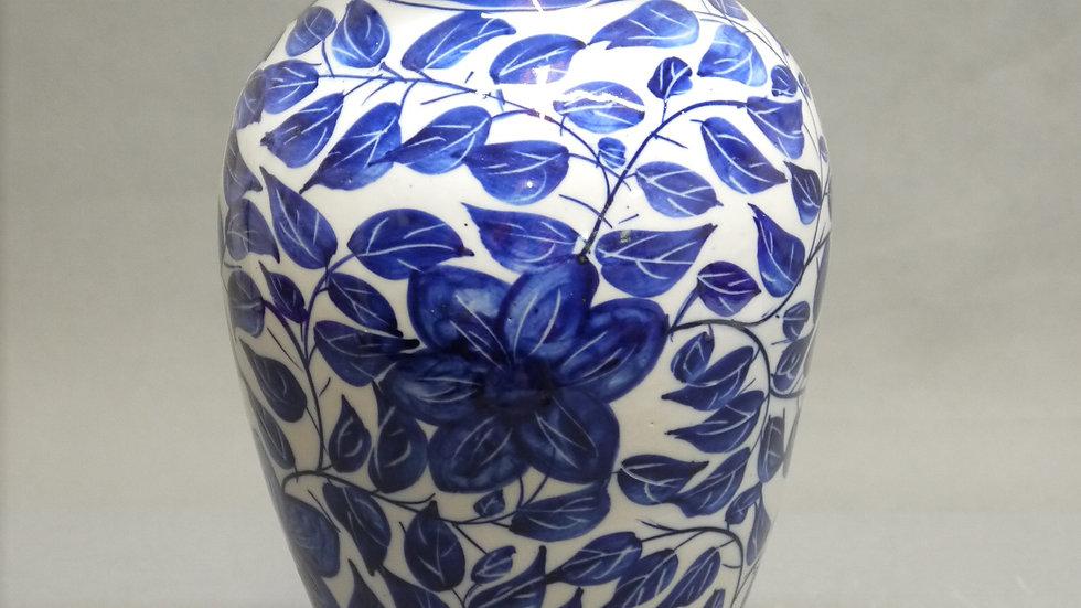 "Stilvolle, große, ältere Vase, ""Blaumalerei""..."