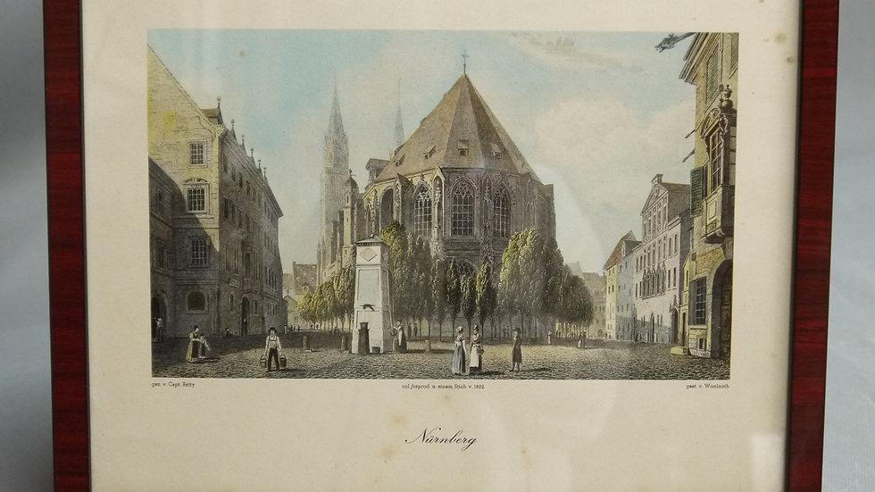 Sehr schöne ältere Lithographie Nürnbergs...