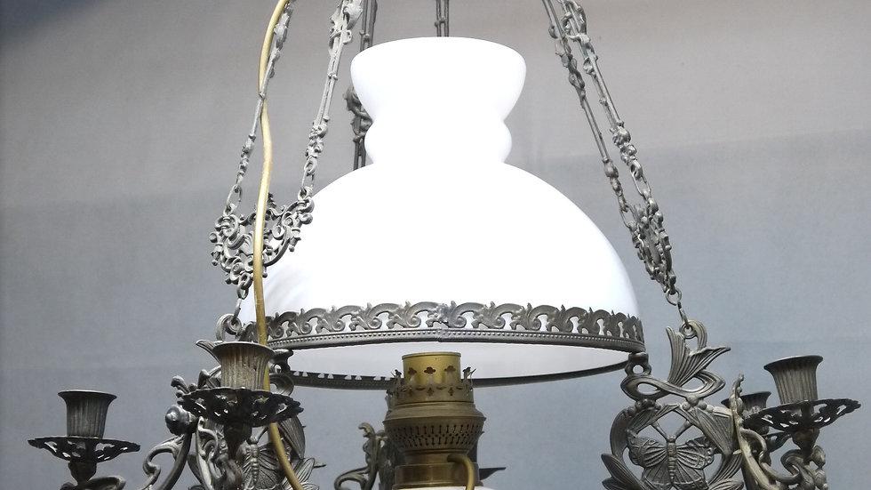 Schöne, große, ältere Petro-Deckenlampe...