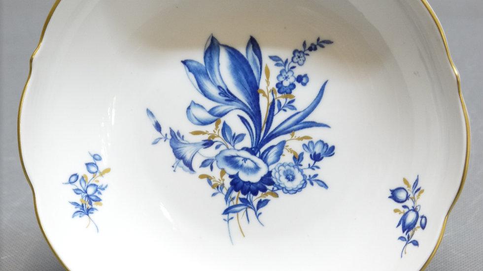 Sehr schöne MEISSEN-Schale 1.Wahl mit Goldrand & blauem Dekor