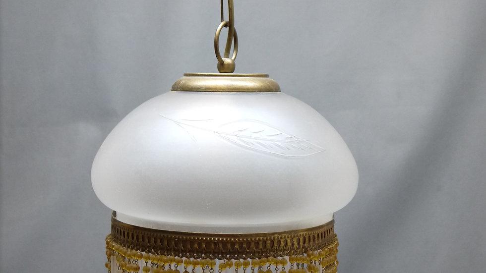 Sehr schöne & stilvolle Deckenlampe, Fransen-Glas
