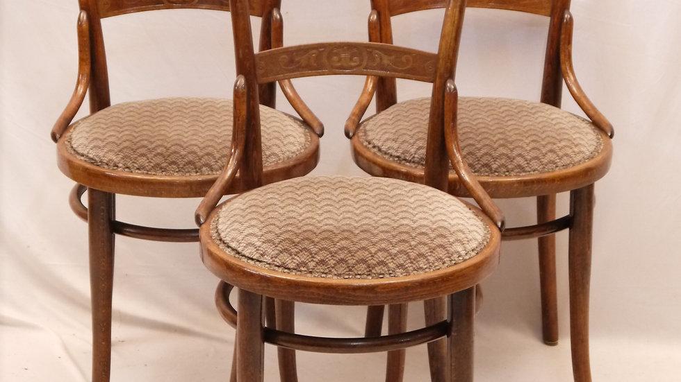 3 sehr schöne Cafehaus-Stühle, um 1910