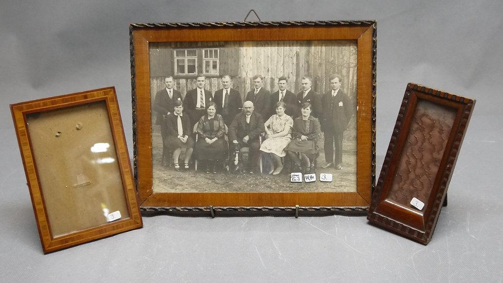 3 sehr schöne alte Holz-Rahmen, um 1900... -3-