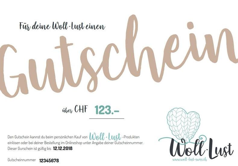 Woll-Lust Gutschein