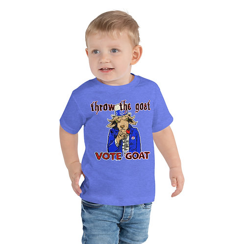 """Vote Goat Sam"" Toddler Short Sleeve Tee"