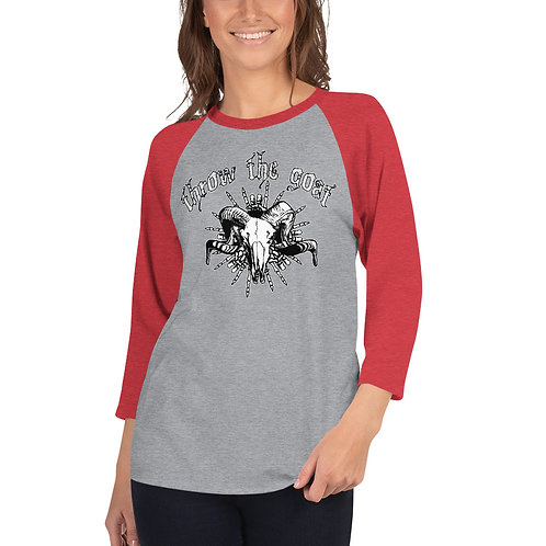 """Skull Hands"" 3/4 Sleeve Raglan Shirt"